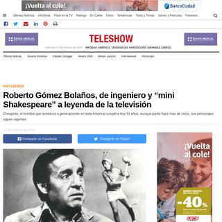 """Roberto Gómez Bolaños, de ingeniero y """"mini Shakespeare"""" a leyenda de la televisión - Infobae"""