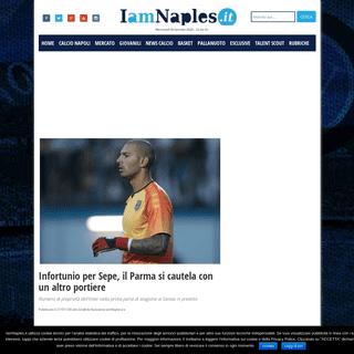 ArchiveBay.com - www.iamnaples.it/notizie-calcio-napoli/infortunio-per-sepe-il-parma-si-cautela-con-un-altro-portiere/ - Infortunio per Sepe, il Parma si cautela con un altro portiere