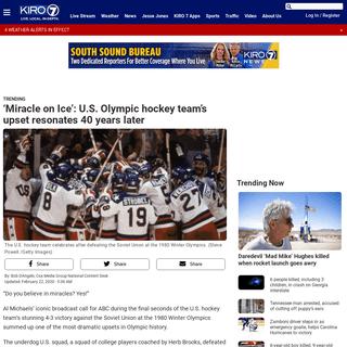 'Miracle on Ice'- U.S. Olympic hockey team's upset resonates 40 years later