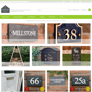 House signs, house numbers and letterboxes - The House Nameplate Company