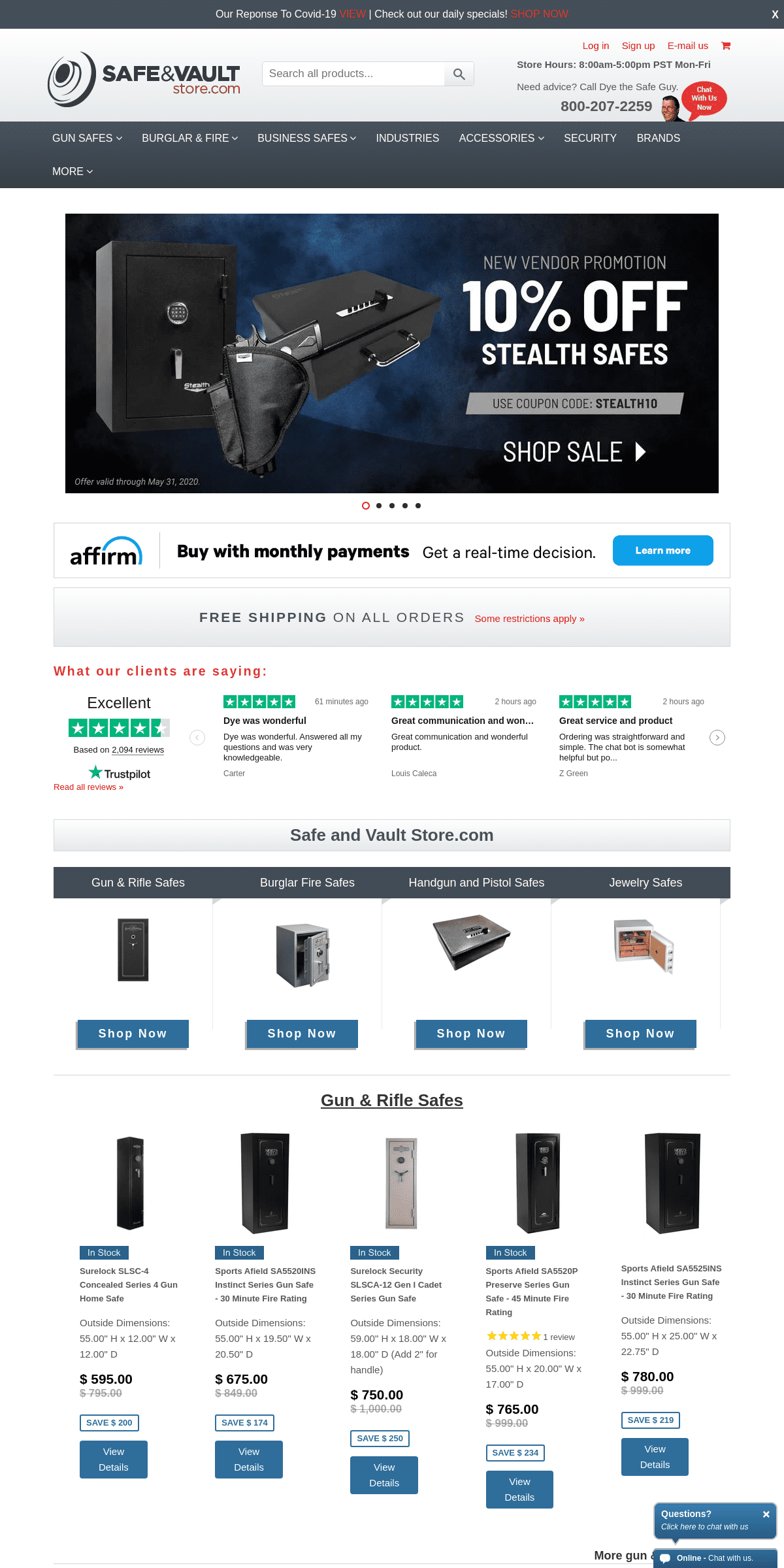 Gun Safes & Wall Safe Brands for Sale – Safe and Vault Store.com