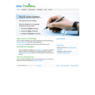 After the Deadline - Spell, Style, and Grammar Checker for WordPress, Firefox, TinyMCE, jQuery, and CKEditor