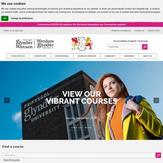 Home - Wrexham Glyndwr University