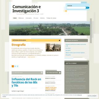 Comunicación e Investigación 3 - Facultad de Comunicación Social – UAO