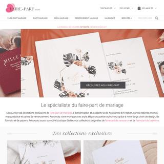 Faire-part mariage à personnaliser en ligne — Faire-Part.com