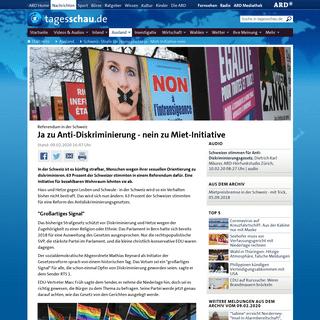 Referendum in der Schweiz- Ja zu Anti-Diskriminierung - nein zu Miet-Initiative - tagesschau.de