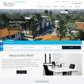 🏡 Property for sale & rent in Kenya - EURO TRUST Real Estate Agency