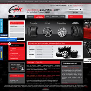 Pneu OK - pneumatiky, levné pneu a nejlevnější pneu, alu kola a plechové disky