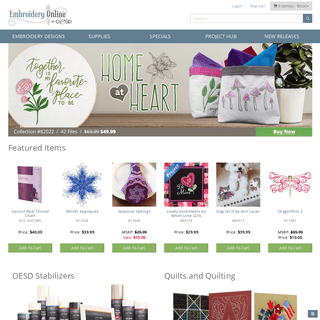 Embroidery Online - Machine Embroidery Designs by OESD