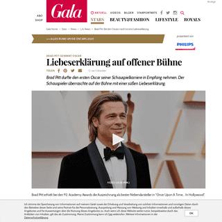 Brad Pitt- Bei den Oscars macht er eine Liebeserklärung - GALA.de