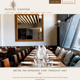 Home - Rustic Canyon Wine Bar and Seasonal Kitchen