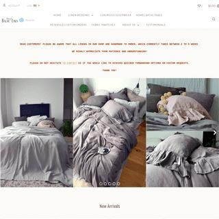 House of Baltic Linen. Vintage Inspired Boutique Linen Bedding. Pure European Linen