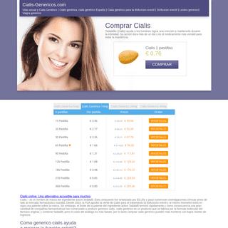 Comprar Cialis Generico Online, Precio Cialis 0.76 Eur