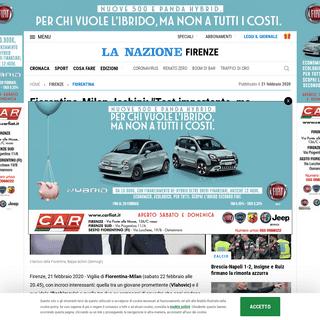 ArchiveBay.com - www.lanazione.it/firenze/fiorentina/milan-iachini-1.5040598 - Fiorentina-Milan, Iachini- -Test importante, ma dobbiamo fare punti- - Sport - Calcio - lanazione.it