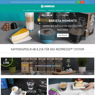 Gourmesso - Nespresso®- kompatible Kapseln 35- günstiger bestellen