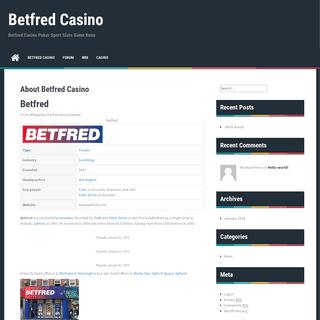 About Betfred Casino - Betfred Casino