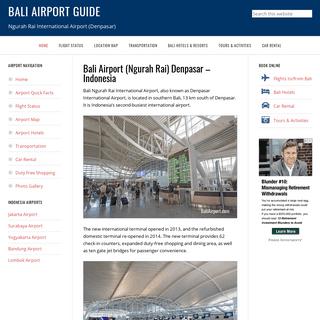 Bali Airport Guide – Ngurah Rai International Airport (Denpasar)