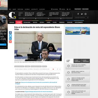 Esta es la declaración de renta del expresidente Álvaro Uribe
