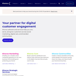 Online Community & Social Media Management Software - Khoros