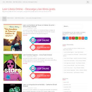 Leer Libros Online - Descarga y lee libros gratis - Blog donde podrás leer libros online gratis y de igual forma podrás bajar