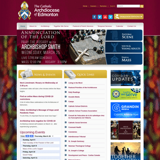 Welcome to the Catholic Archdiocese of Edmonton