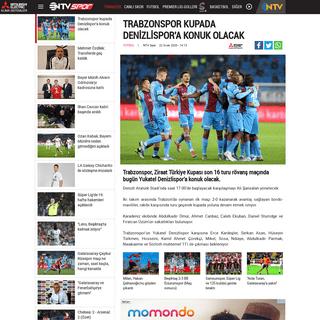 Trabzonspor kupada Denizlispor'a konuk olacak - NTVSpor.net