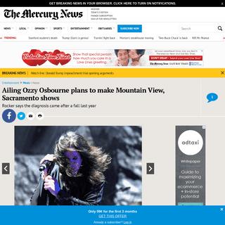 Ailing Ozzy Osbourne plans to do Shoreline, Sacramento gigs