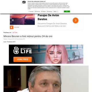 Mircea Beuran a fost reținut pentru 24 de ore