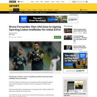 ArchiveBay.com - www.bbc.co.uk/sport/football/51286118 - Bruno Fernandes- Man Utd close to signing Sporting Lisbon midfielder for initial £47m - BBC Sport