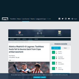 Atlético Madrid v Leganés Match Report, 26-01-2020, Primera División - Goal.com