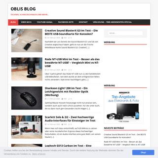 Oblis Blog – Technik, Schnickschnack und mehr…