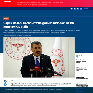ArchiveBay.com - www.aa.com.tr/tr/turkiye/saglik-bakani-koca-rizede-gozlem-altindaki-hasta-koronavirus-degil/1739111 - Sağlık Bakanı Koca- Rize'de gözlem altındaki hasta koronavirüs değil