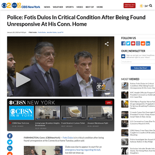 Police- Fotis Dulos In Critical Condition After Being Found Unresponsive At His Conn. Home – CBS New York