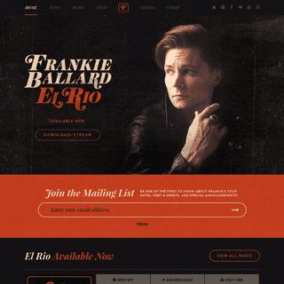 Frankie Ballard - Official Website- Sunshine & Whiskey Music, Videos, Photos, Lyrics, Tour Dates