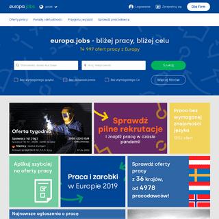 Praca za granicą - Aktualne oferty i ogłoszenia - europa.jobs