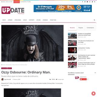 ArchiveBay.com - updatemexico.com/uplife/upshow/ozzy-osbourne-ordinary-man/ - Ozzy Osbourne- Ordinary Man. – Update México