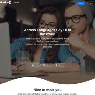 gagahi_Multi language international dating_Across Languages,Say Hi to the world!