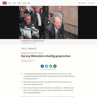 Hollywoods Missbrauchs-Skandal - Harvey Weinstein schuldig gesprochen - News - SRF