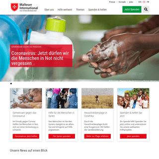 Internationales Hilfswerk für humanitäre Hilfe - Malteser International