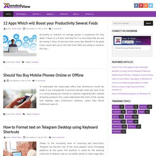 XtendedView.com • A Technology Blog