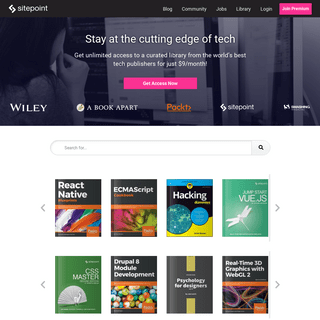 SitePoint – Learn HTML, CSS, JavaScript, PHP, Ruby & Responsive Design