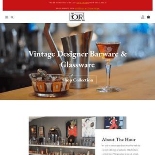Vintage Barware & Glassware - The Hour Shop