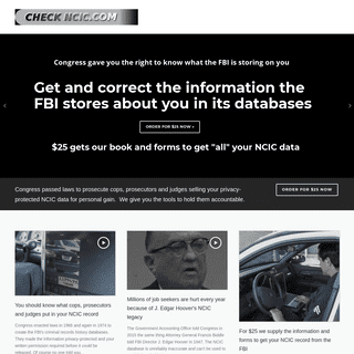CHECK NCIC.COM – Get access to the FBI's information about you