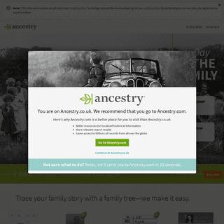 Ancestry® - Genealogy, Family Trees & Family History Records
