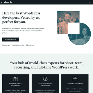 ArchiveBay.com - codeable.io - Hire the Best Freelance WordPress Developers - Vetted by Codeable