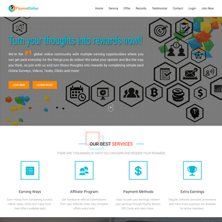 PaymeDollar - A Global Online Community With Multiple Earning Opportunities.