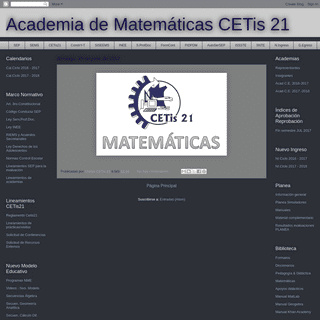 Academia de Matemáticas CETis 21