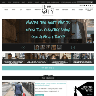 Jew In The City - Reversing Negative Associations About Religious Jews