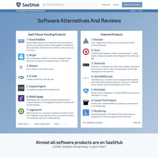 SaaSHub - Software Alternatives And Reviews