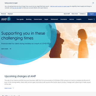 AMP – Banking, Super, Retirement, Financial Advice & Insurance - AMP